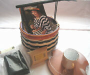 Longaberger Halloween 2013 Basket Wicked Witch Liner Tie On Lid Protector Nwt