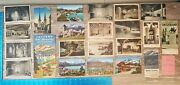 Vintage Ww2 Era Lot Of 23 Items Maps And Postcards Lucerne Switzerland 96a
