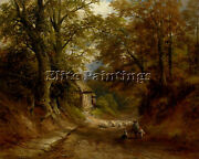 George Turner The Old Cottage Littleover Lane Artist Painting Reproduction Oil