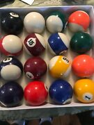 Superior Billiard Balls Work And Shop Sc Used Set Of 16 Pool Game Balls In Box