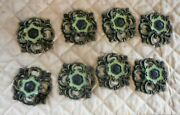 Vintage French Farmhouse Provincial Cabinet Dresser Knobs And Rossette Backplate