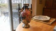 Large Antique Japaneese Vase With Foo Dogs