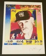 Peter Max Portrat Of Mike Love From The Beach Boys Lithograph Limited Edition