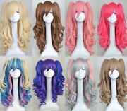 Cute Lolita Full Curly Wigs Pigtails Wavy New Hair Cosplay Costume Anime Party