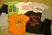 Boys Lot Shirts Shorts Carters Size 2t 2 Football Dogs Tigers Tractor Blue
