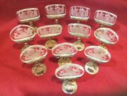 Antique Place Card Holders Rare Intaglio 12 Made In Austria For Holiday Formal