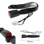 7/8 Camlock Car Front Seat Belt Buckle Padding Socket Plug With Warning Cable