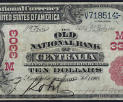 Il 1902 10 Red-seal ♚♚centralia Illinois♚♚ Pcgs Vf 20 Only Known Red-seal