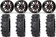 Fuel Sledge Red 20 Wheels 36 Outback Maxand039d Tires Can-am Maverick X3
