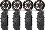 Fuel Sledge Red 20 Wheels 36 Outback Maxand039d Tires Can-am Commander Maverick