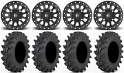 Fuel Vector Bdlk 14 Wheels 32x9.5 Outback Max Tires Polaris Rzr Turbo S / Rs1