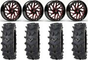 Fuel Triton Red 20 Wheels 35 Outback Maxand039d Tires Polaris Rzr Turbo S/rs1