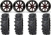 Fuel Maverick Red 20 Wheels 36 Outback Maxand039d Tires Polaris Rzr Turbo S/rs1
