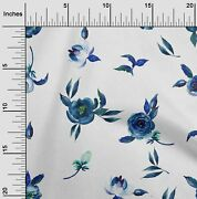 Oneoone Flower And Leaves Watercolor Decor Fabric Printed By The Yard --wc-1008a_1