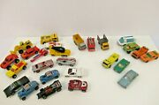 Lesney Matchbox And Hot Wheels Vtg Lot Of 26 Loose Cars 1970s 80s 90s Rare