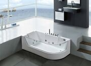 Whirlpool Bathtub Hydrotherapy Hot Tub 1 Person 59 Panoramic Glass - Venice