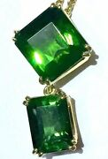 Quality 18k Eye Clean Green Fiery Tourmaline Pendant Necklace Chain