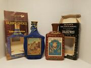 Lot Of 2 Jim Beam Vintage Decanters Americana And Bicentennial Themes Empty
