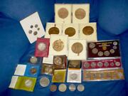 Lot Colection Israel Coin And Medals Proofs 25 Pcs. +200g In Silver Alone