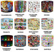 Children`s Lampshades Ideal To Match Children`s Comic Book Super Heroes Duvets