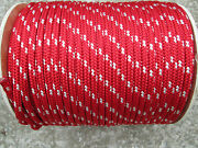 3/8 X 100and039 Halyard Linejibsheets16 Strand Boatanchor Linered/white Usa