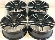 19x8.5 9.5 Fit Bmw 3-4-5-6-7 M6 Sport Style M-style Rims 19 Wheels Machined Blk