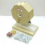 Japanese Wooden Lottery Wheel Garapon With 250 Lottery Balls Fast Ship Japan Ems