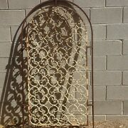 Large California Spanish Revival Wrought Iron Window Grate/wall Ornament Early 1