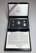 1998 S Premier Silver Proof Set Silver Dollar 5 Coins