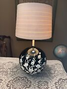 Huge 50andrsquos 60s Mcm Art Pottery Fat Tall Ceramic Lamp Mcm Black White Authentic