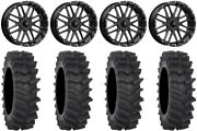Msa Milled Bandit 20 Wheels 34 Xm310r Tires Polaris Ranger Xp 9/1k