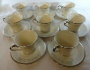 Lenox Snow Lily Lots--4 Mint Cups And Saucers/4 Near Mint Bread Plates--2 Ea Avail