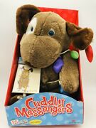 Commonwealth Cuddly Messenger Plush Puppy Dog Christmas Gift Card Holder 2003