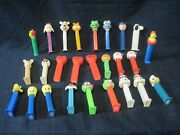 Vntg Pez Dispensers W/ Feet.garfield Holiday Muppets Peanuts Wb Whistle Lot 27