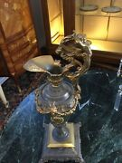 Ewer Dore Bronze With Chagrin Finish Over Body