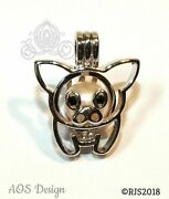 Teacup Pig Pearl Cage Piglet Silver Charm Necklace Pua Flying Piggy Pig Locket