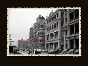 1940s Queenand039s Road Star Ferry Terminal Street Bandw Vintage Hong Kong Photo 1717