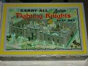 Vintage 1960s Marx Carry All Fighting Knights Action Playset Many Parts