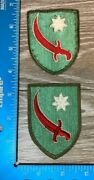 Vintage Ww2 Lot Of 2 Patches Persian Gulf Service Command Uniform Removed 98a