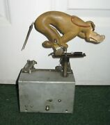 Antique 1940s Seeburg Shoot The Bear Arcade Game Coin Operated Dog Carriage