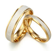 His And Hers Yellow Gold Filled Silver Anniversary Wedding Ring Sets Sz3.5-16.5