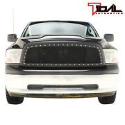 Tidal Replacement Mesh Grille Upper Black Grill Fit 2009-2012 Dodge Ram 1500