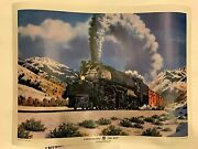 Vintage Train Union Pacific Big Boy Gold And Powerful Poster Very Rare