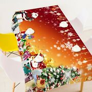 3d Santa Claus Gift A15 Christmas Tablecloth Table Cover Cloth Birthday Party Zo