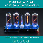 In-18 Nixie Tubes Clock Arduino Shield Ncs318-4 With Columns [tubes Optional]