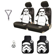 For Jeep Star Wars Stormtrooper 6pc Car Seat Covers Mats And Accesories Set