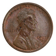 Raw 1917-d Lincoln 1c Uncertified Ungraded Denver Mint Copper Small Cent Coin