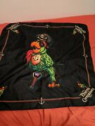 Disney Parks Pirates Of The Caribbean Barker Parrot Scarf Hat Bandana New W/tags