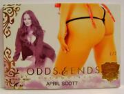 April Scott 1 /2 Odds And Ends Butt Card Benchwarmer 25 Years Series 2 2019 Wow