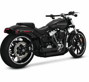 Vance And Hines Mini Grenades Exhaust For Harley Softail - Black - 46880